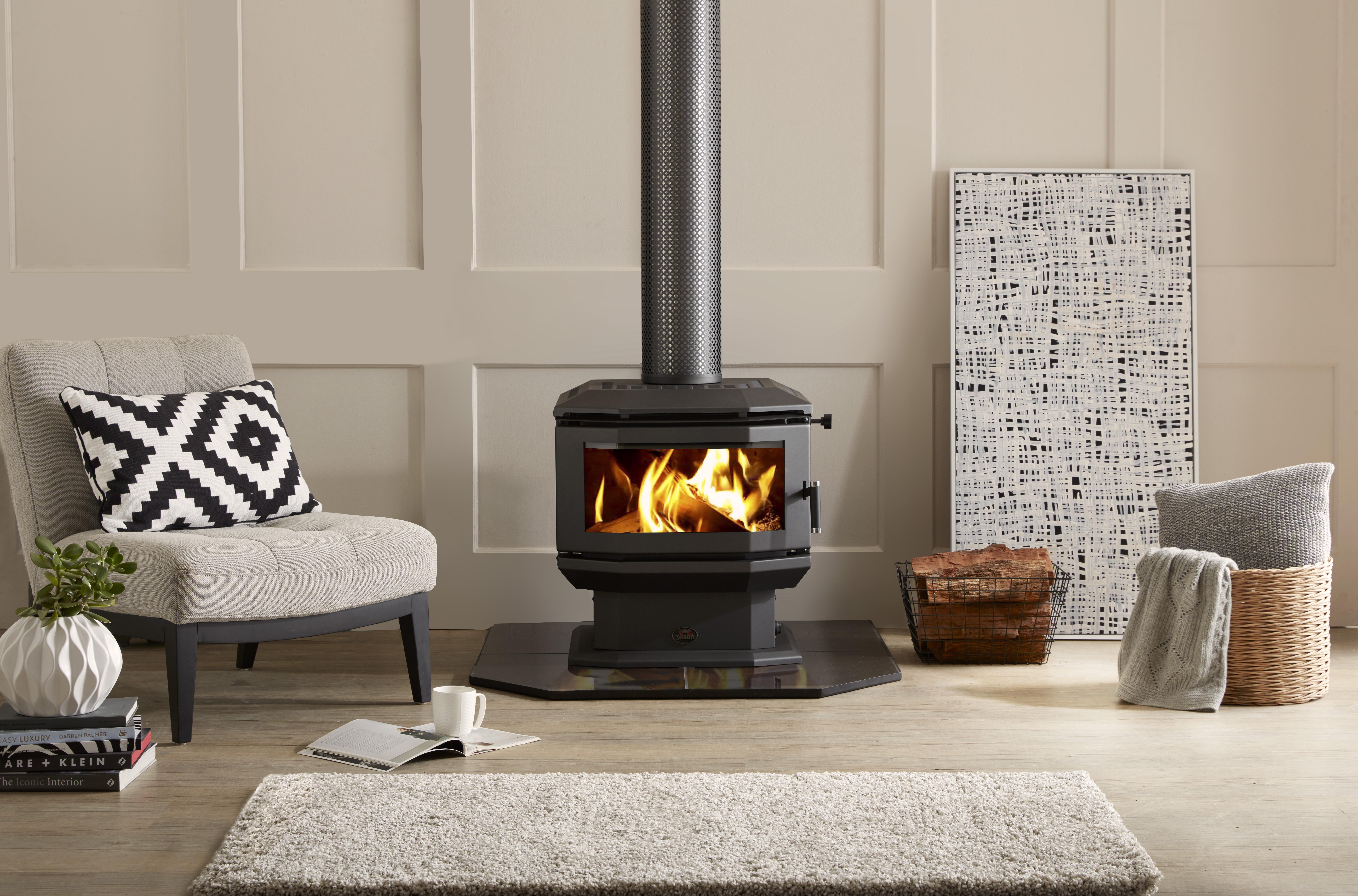 Saxon Walnut Wood Heater
